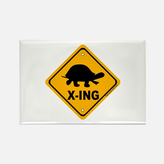 Turtle X-ing Rectangle Magnet (10 pack)