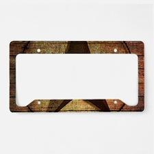 barn wood texas star License Plate Holder