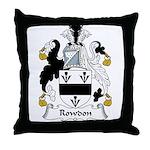 Rowdon Family Crest Throw Pillow