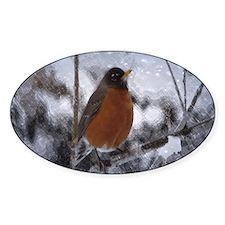 nature winter robin bird Decal