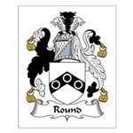 Round Family Crest Small Poster