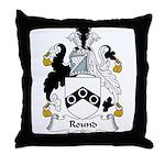 Round Family Crest Throw Pillow