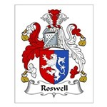Roswell Family Crest Small Poster
