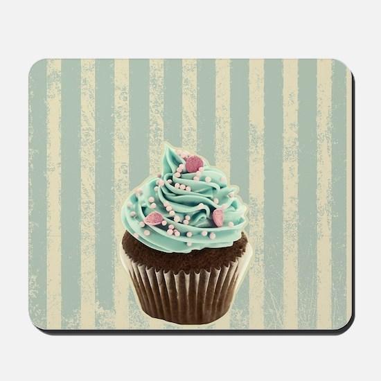 retro pattern cute cupcake Mousepad