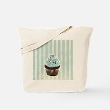 retro pattern cute cupcake Tote Bag