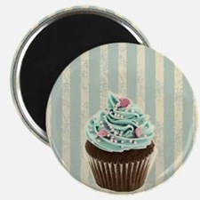 retro pattern cute cupcake Magnet