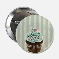 "retro pattern cute cupcake 2.25"" Button"