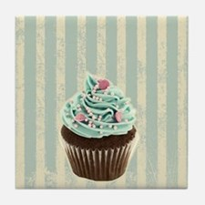 retro pattern cute cupcake Tile Coaster