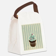 retro pattern cute cupcake Canvas Lunch Bag
