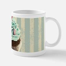 retro pattern cute cupcake Mugs