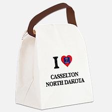 I love Casselton North Dakota Canvas Lunch Bag
