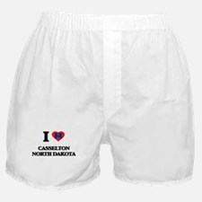 I love Casselton North Dakota Boxer Shorts