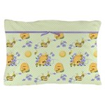 Bee Dance Floral Pillow Case