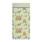 Bee Dance Floral Beach Towel