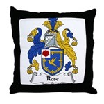 Rose Family Crest Throw Pillow