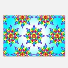 Rainbow Design II by Xennifer Postcards (Package o