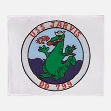 USS JARVIS Throw Blanket