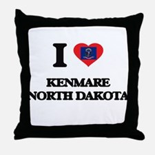 I love Kenmare North Dakota Throw Pillow