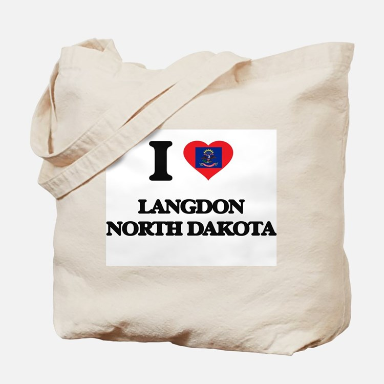 I love Langdon North Dakota Tote Bag