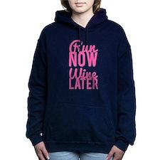 Run Now Wine Later Women's Hooded Sweatshirt