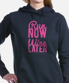 Run Now Wine Later Women's Hooded Sweatshirt