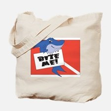 Bite Me Dive Shark Tote Bag