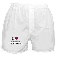 I love Park River North Dakota Boxer Shorts