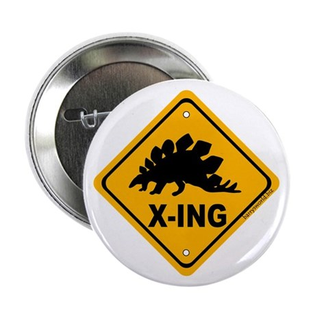"Dino3 X-ing 2.25"" Button (100 pack)"