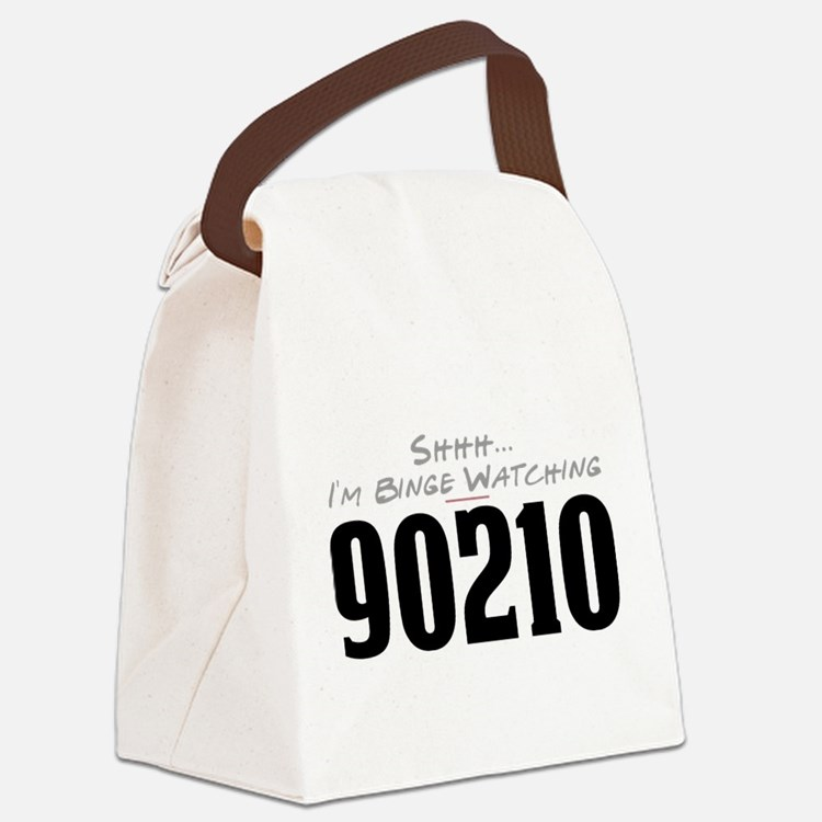 Shhh... I'm Binge Watching 90210 Canvas Lunch Bag