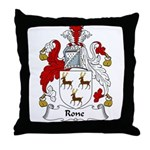 Rone Family Crest Throw Pillow