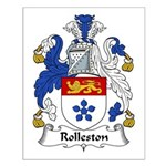 Rolleston Family Crest Small Poster