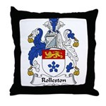 Rolleston Family Crest Throw Pillow