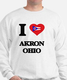 I love Akron Ohio Sweatshirt