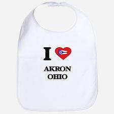 I love Akron Ohio Bib