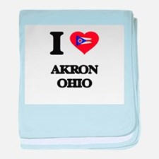 I love Akron Ohio baby blanket