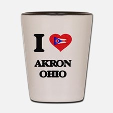 I love Akron Ohio Shot Glass