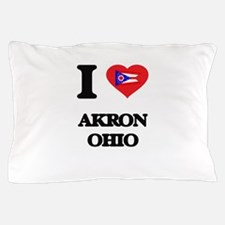 I love Akron Ohio Pillow Case