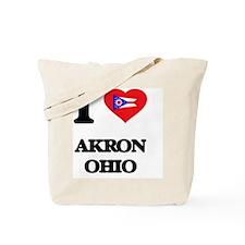 I love Akron Ohio Tote Bag