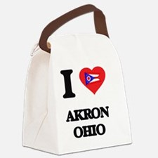 I love Akron Ohio Canvas Lunch Bag