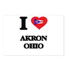 I love Akron Ohio Postcards (Package of 8)