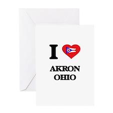I love Akron Ohio Greeting Cards