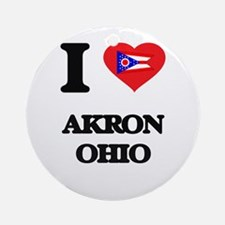 I love Akron Ohio Ornament (Round)