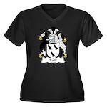 Rolfe Family Crest Women's Plus Size V-Neck Dark T