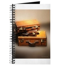 Vintage leather suitcases luggage image Journal