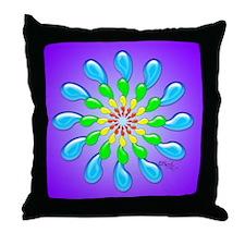 Rainbow Drops Design by Xennifer Throw Pillow