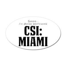 Shhh... I'm Binge Watching CSI: Miami 22x14 Oval W