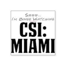 Shhh... I'm Binge Watching CSI: Miami Square Stick