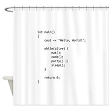 life.cpp Shower Curtain
