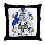 Rodway Family Crest Throw Pillow