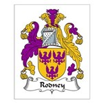 Rodney Family Crest Small Poster
